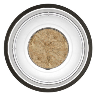 Brown Marble Fossil Look Pet Bowl