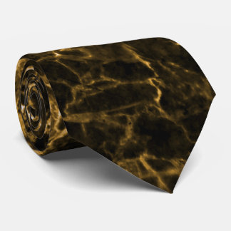 BROWN MARBLE NECK TIE