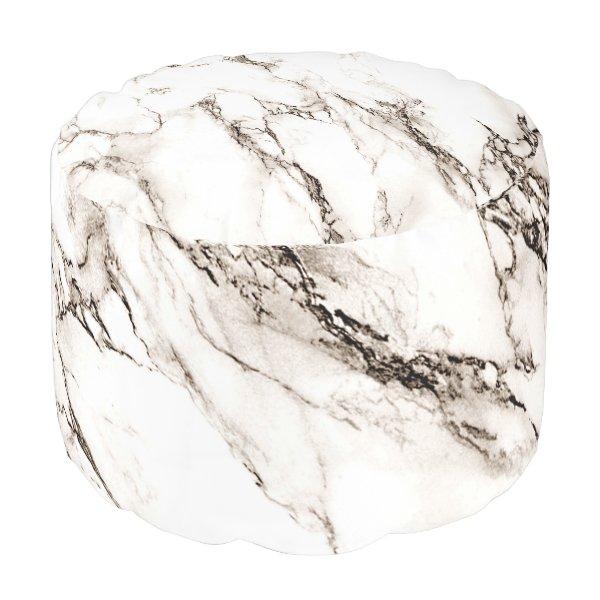 Brown Marble Pouf