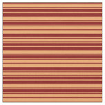 [ Thumbnail: Brown & Maroon Pattern of Stripes Fabric ]