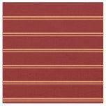 [ Thumbnail: Brown & Maroon Striped/Lined Pattern Fabric ]
