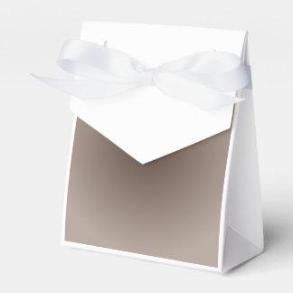 Brown marrón claro y oscuro de la pendiente radial paquete de regalo