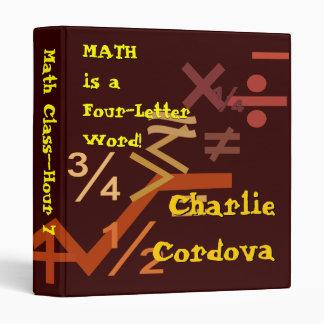 Brown Math Binder