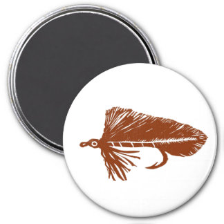"""Brown Matuka Streamer"" Classic Trout Fly Magnet"