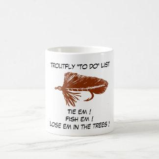 """""""Brown Matuka - Trout Fly """"To Do List"""" Mug"""