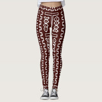 Brown Maxi Print Leggings
