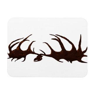 Brown Megaloceros Skull Flexi Magnet