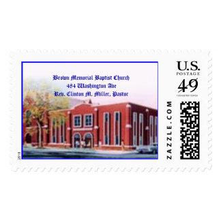 brown memorial, Brown Memorial Baptist Church48... Postage Stamp