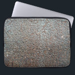 "Brown Metal Corrosion Pattern Laptop Sleeve<br><div class=""desc"">Brown rusted metal corrosion texture pattern.</div>"