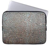 Brown Metal Corrosion Pattern Laptop Sleeve