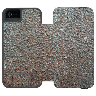 Brown Metal Corrosion Pattern Wallet Case For iPhone SE/5/5s