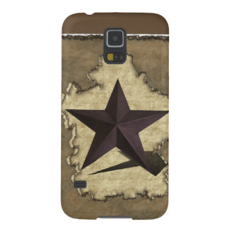 Brown Metal Star Western Case For Galaxy S5