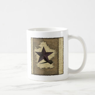 Brown Metal Star Western Coffee Mug