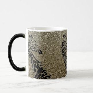 Brown Metallic Giraffe ~ Morphing Mug