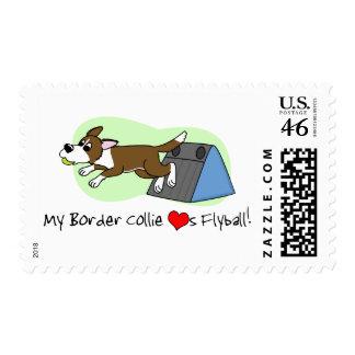 Brown mi border collie ama el sello de Flyball