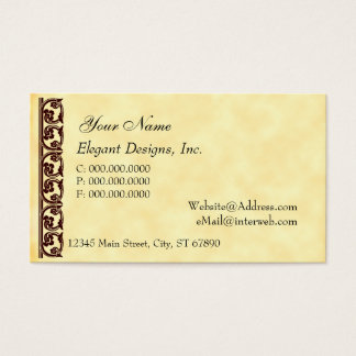 Brown Midieval Element Business Cards