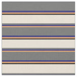 [ Thumbnail: Brown, Midnight Blue, Dim Grey, Bisque, and Black Fabric ]