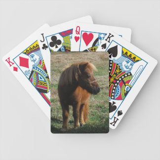 Brown Miniature Horses Bicycle Playing Cards