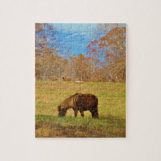 Brown miniature Pony Jigsaw Puzzle