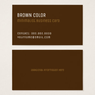 brown minimalist elegant professional business card