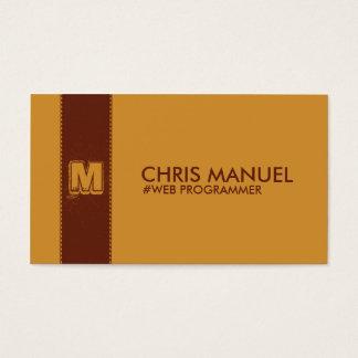 Brown Minimalist Monogram Business Card Templates