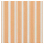 [ Thumbnail: Brown & Mint Cream Colored Lined Pattern Fabric ]