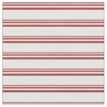 [ Thumbnail: Brown & Mint Cream Lines Pattern Fabric ]