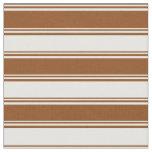[ Thumbnail: Brown & Mint Cream Pattern Fabric ]