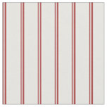 [ Thumbnail: Brown & Mint Cream Striped/Lined Pattern Fabric ]