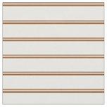 [ Thumbnail: Brown & Mint Cream Stripes Pattern Fabric ]