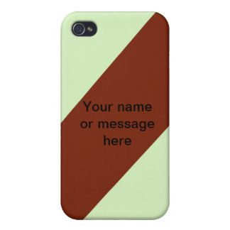 brown mint stripe customize name & background iPhone 4 case