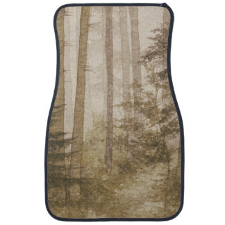 Brown Misty Forest Front Car Mat