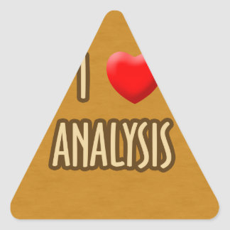 BROWN MODEL - I LOVE ANALYSIS TRIANGLE STICKER