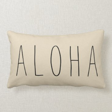 Hawaiian Themed Brown Modern Aloha Throw Pillow