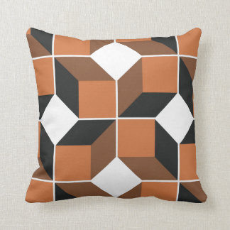 Brown Module Throw Pillow