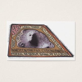 Brown Money-19.5 CYDONIANS-Martian Money ERROR! Business Card