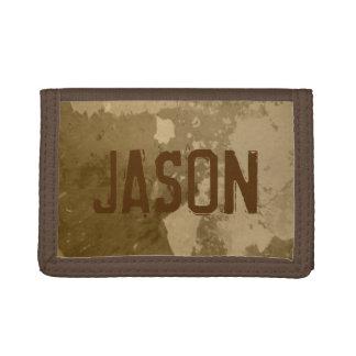 Brown money wallet for men | Distressed look