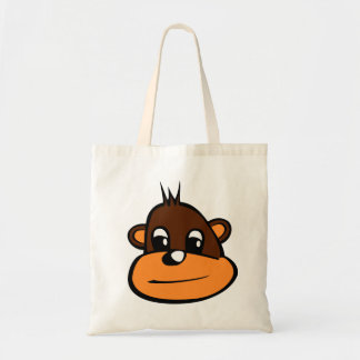 Brown Monkey Face Budget Tote Bag