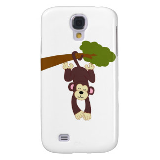 Brown Monkey Hanging From a Tree Branch Galaxy S4 Cover