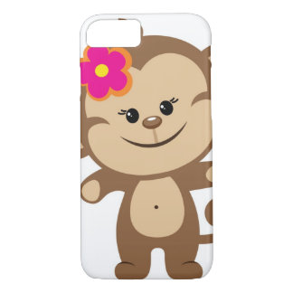Brown monkey iPhone 7 case Phone Case