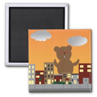Brown Monster Bear Magnet