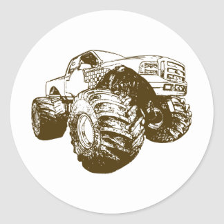 Brown Monster Truck Stickers