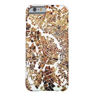 brown mosaic barely there iPhone 6 case