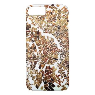brown mosaic iPhone 8/7 case