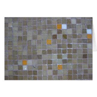 Brown Mosaic Tiles - Istanbul Card