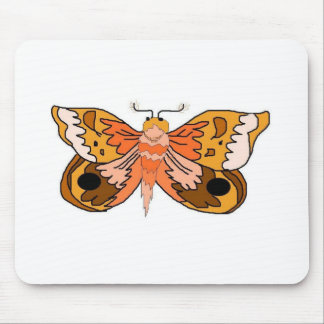 Brown Moth Mouse Pad