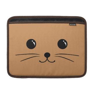 Brown Mouse Cute Animal Face Design MacBook Sleeve