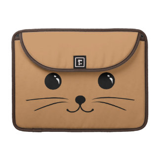 Brown Mouse Cute Animal Face Design Sleeves For MacBooks