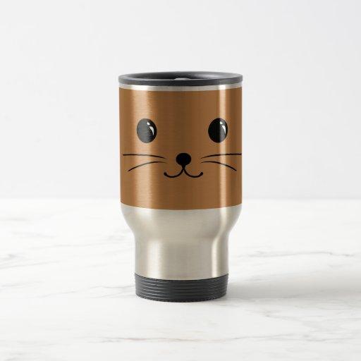 Brown Mouse Cute Animal Face Design Mug