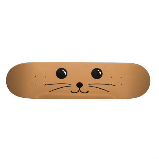 Brown Mouse Cute Animal Face Design Skateboard Deck